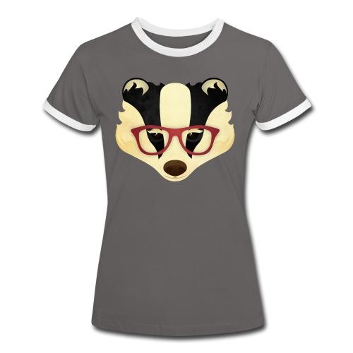Hipster Badger - Women's Ringer T-Shirt