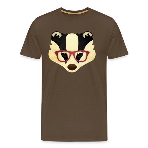 Hipster Badger - Men's Premium T-Shirt