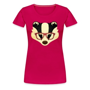 Hipster Badger - Women's Premium T-Shirt