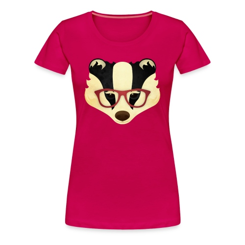 Hipster Badger - Women's Premium T-Shirt