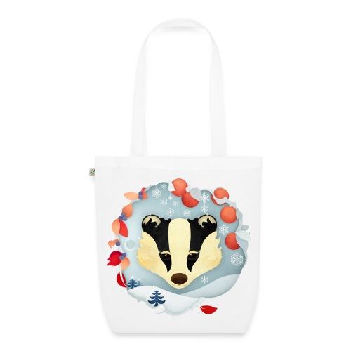 Badger Winter Wonderland - EarthPositive Tote Bag