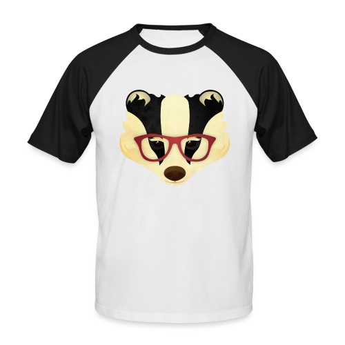 Hipster Badger - Men's Baseball T-Shirt