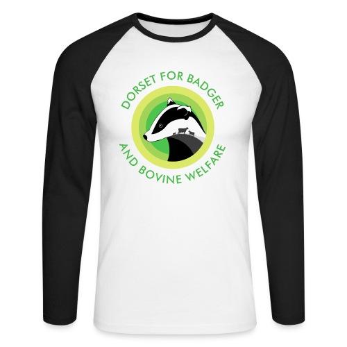 Dorset for Bagder and Bovine Welfare (Logo) - Men's Long Sleeve Baseball T-Shirt