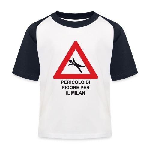 Pericolo di rigore per il Milan - Maglietta da baseball per bambini