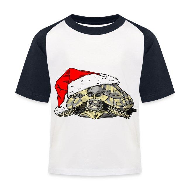 Christmas Tortoise Baseball Tee