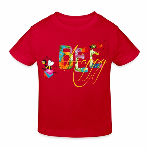 Bee Happy - Kids T-shirt - Kinder Bio-T-Shirt