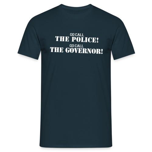 Call the police - Logo Blanco - Camiseta hombre