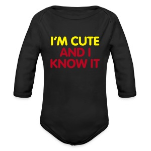 I'm Cute and I Know it - Longsleeve Baby Bodysuit