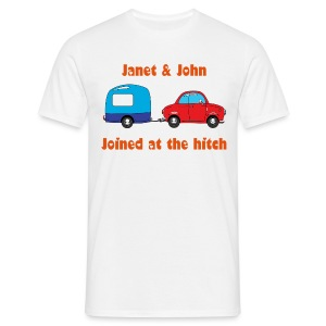 Joined at hitch - can be personalised  - Men's T-Shirt