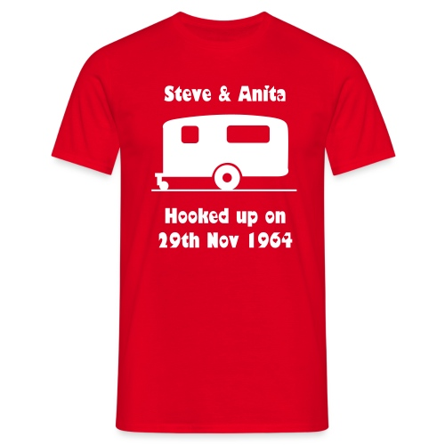 Hooked up - can be personalised  - Men's T-Shirt