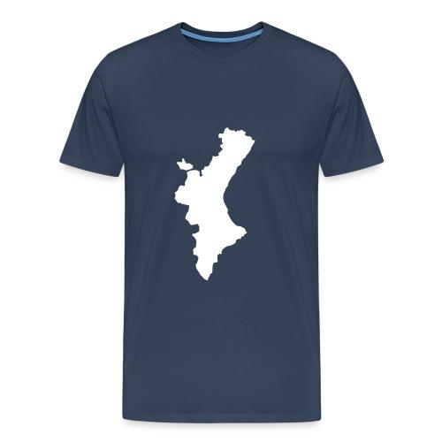 Mapa valencià amb relleu  - Camiseta premium hombre