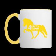 Tassen & Zubehör ~ Tasse zweifarbig ~ Tasse 4 Gaits gelb