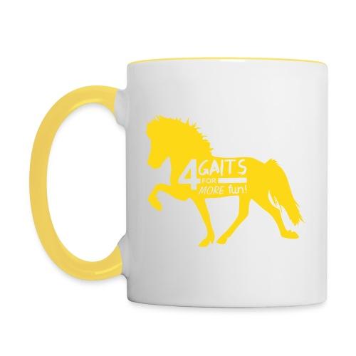 Tasse 4 Gaits gelb - Tasse zweifarbig