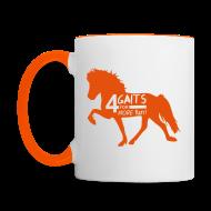 Tassen & Zubehör ~ Tasse zweifarbig ~ Tasse 4 Gaits orange