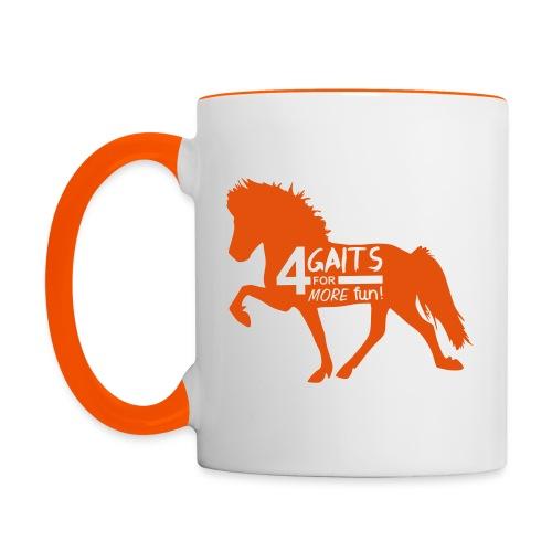 Tasse 4 Gaits orange - Tasse zweifarbig
