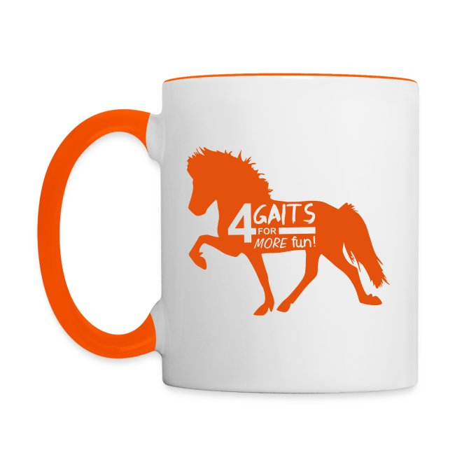 Tasse 4 Gaits orange