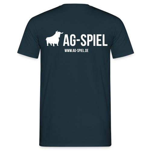 Shirt weißer Flock nur Rücken - Männer T-Shirt