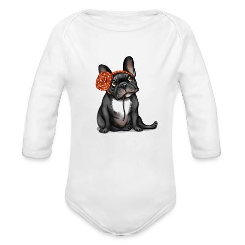 Body bébé bio manches longues - top,tee-shirt,sucette,naissance,mode,haut,garçon,french,français,fille,femme,enfant,cadeau,bébé,bulldog,bouledogue,body