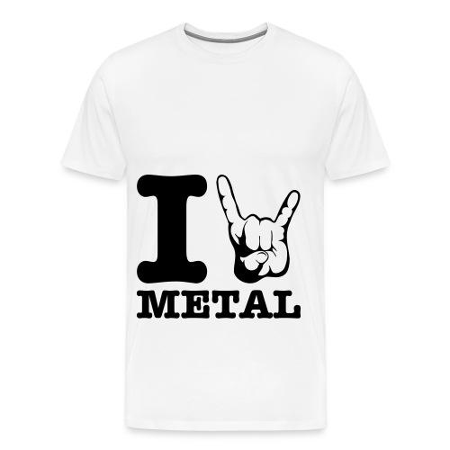 I \m/ Metal H - T-shirt Premium Homme