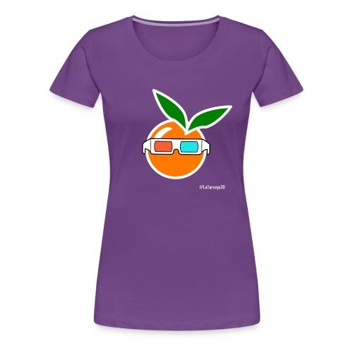 La Taronja 3D - Xica - Camiseta premium mujer