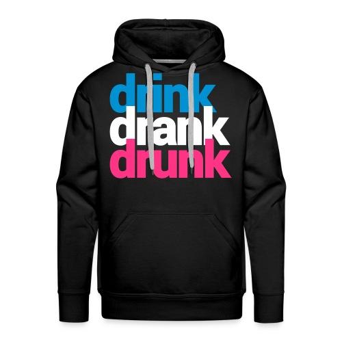 Felpa Drink, Drank, Drunk - Felpa con cappuccio premium da uomo