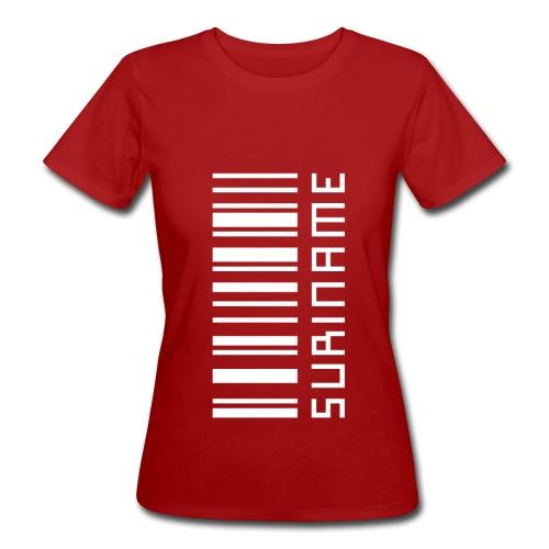 Suriname in streepjescode - Women's Organic T-Shirt