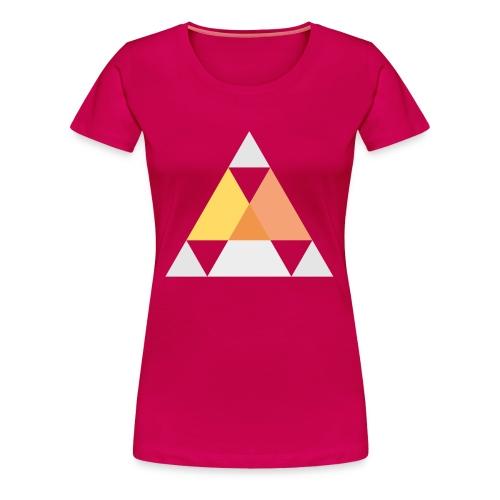 Motif triangle - T-shirt Premium Femme