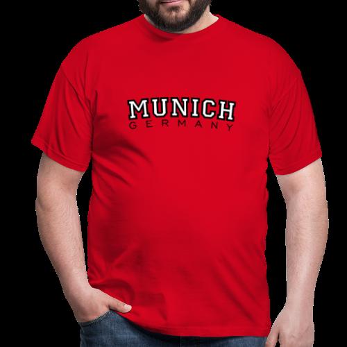 Munich Germany München T-Shirt (Herren Rot) - Männer T-Shirt