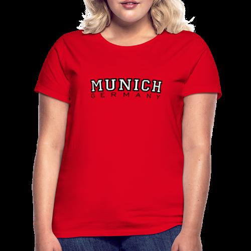 Munich Germany München T-Shirt (Damen Rot) - Frauen T-Shirt