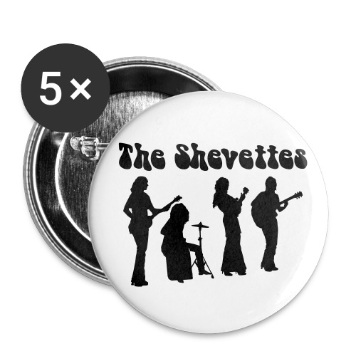 The Shevettes Button, klein - Buttons klein 25 mm (5er Pack)