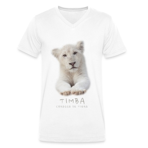 T-Shirt Homme V Timba bébé portrait - T-shirt bio col V Stanley & Stella Homme
