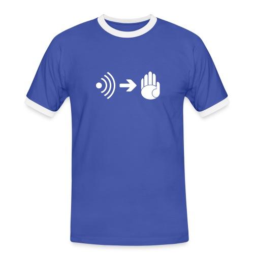 Sprich mit meiner Hand - Männer Kontrast-T-Shirt