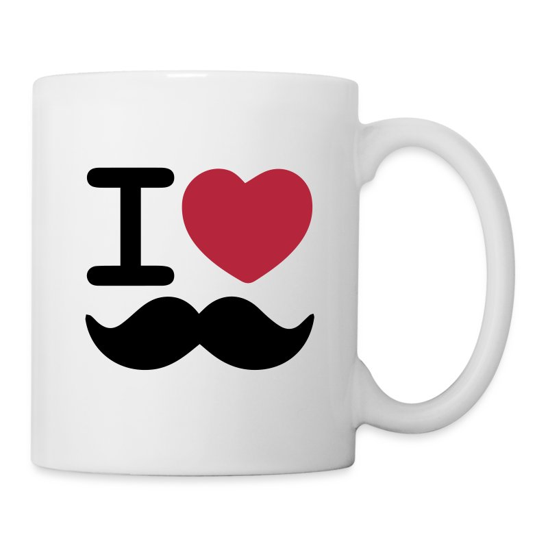 I Love Moustaches - Mug for Movember - Mug