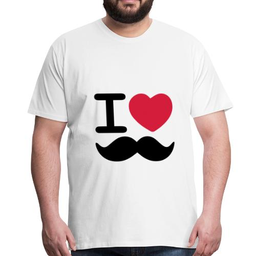 I Love Moustaches - Up to 5XL Men's tshirt for Movember - Men's Premium T-Shirt