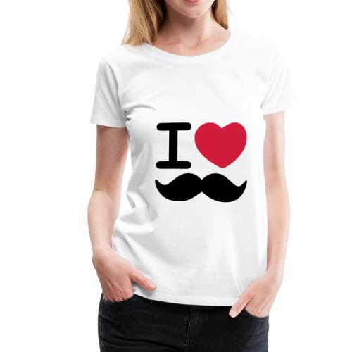I Love Moustaches - Up to 3XL Women's tshirt for Movember - Women's Premium T-Shirt