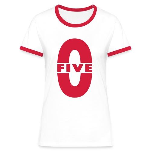 Tee shirt contraste Femme Five-0 - T-shirt contrasté Femme