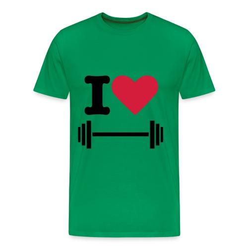 I LOVE SPORT - Männer Premium T-Shirt