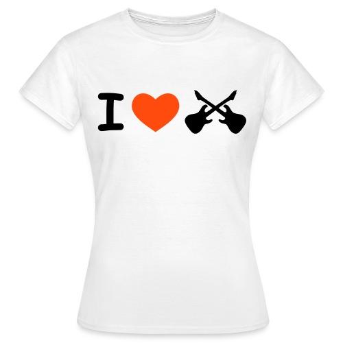 Io amo la Chitarra - Maglietta da donna