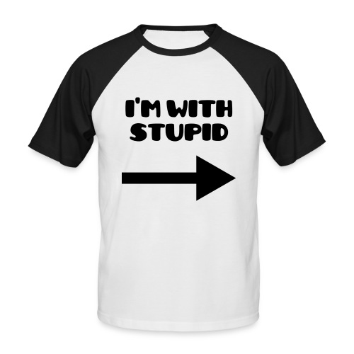 Stupid - T-shirt baseball manches courtes Homme