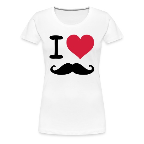 I LOVE MUSTACHE - Women's Premium T-Shirt
