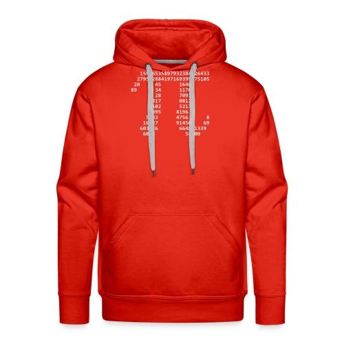 Pi Kapuzenpulli (Weißes Logo) - Männer Premium Hoodie