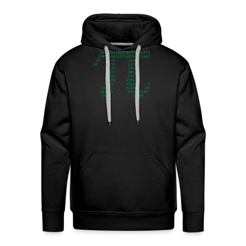 Pi Kapuzenpulli (Grünes Logo) - Männer Premium Hoodie