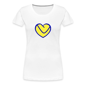 LUFC Heart - Women's Premium T-Shirt