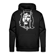 Pullover & Hoodies ~ Männer Premium Kapuzenpullover ~ Kapuzenpulli Che Jesus weiß