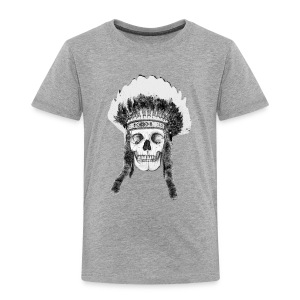 Skull Indian Headdress - cráneo - Camiseta premium niño