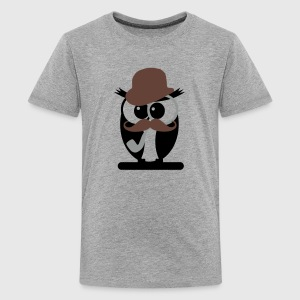 hipster owl T-shirts - Teenager premium T-shirt