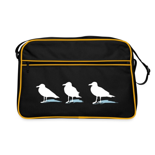 tier t-shirt möwe möwen sea gull seagull hafen beach harbour - Retro Tasche