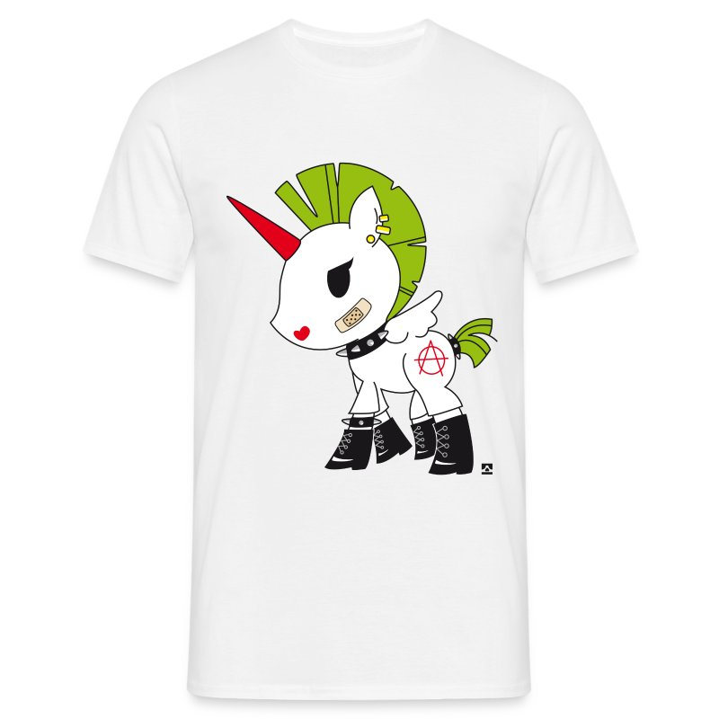 tee shirt unicorn licorne punky spreadshirt. Black Bedroom Furniture Sets. Home Design Ideas