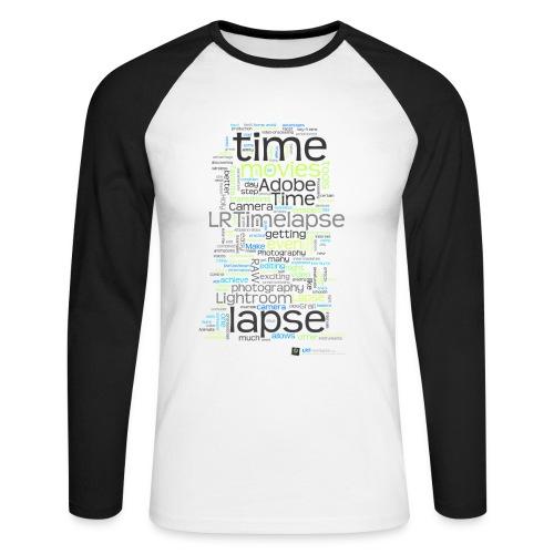 Long Sleeve Time Lapse Cloud - Weiß/Grün - Männer Baseballshirt langarm