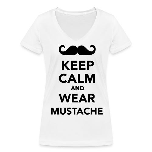 Keep Calm... - Shirt - Frauen Bio-T-Shirt mit V-Ausschnitt von Stanley & Stella